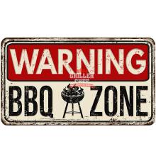 Warning BBQ Zone
